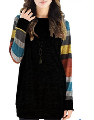 Casual Colorful Stripe Sweatshirt