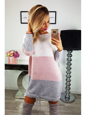 Casual Knit Sweater Dress