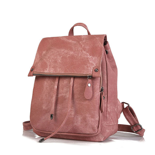 Casual Solid Color Backpack