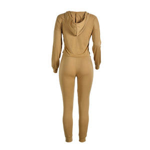 Casual Sweat Suit Two Pieces Set
