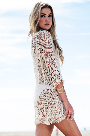 Crochet Hollow Out Cover Up