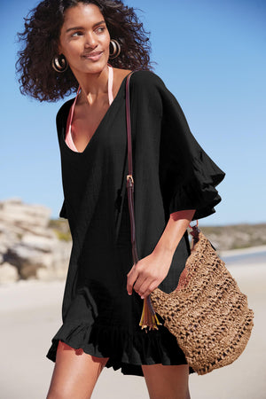 Deep V Neck Cover Up