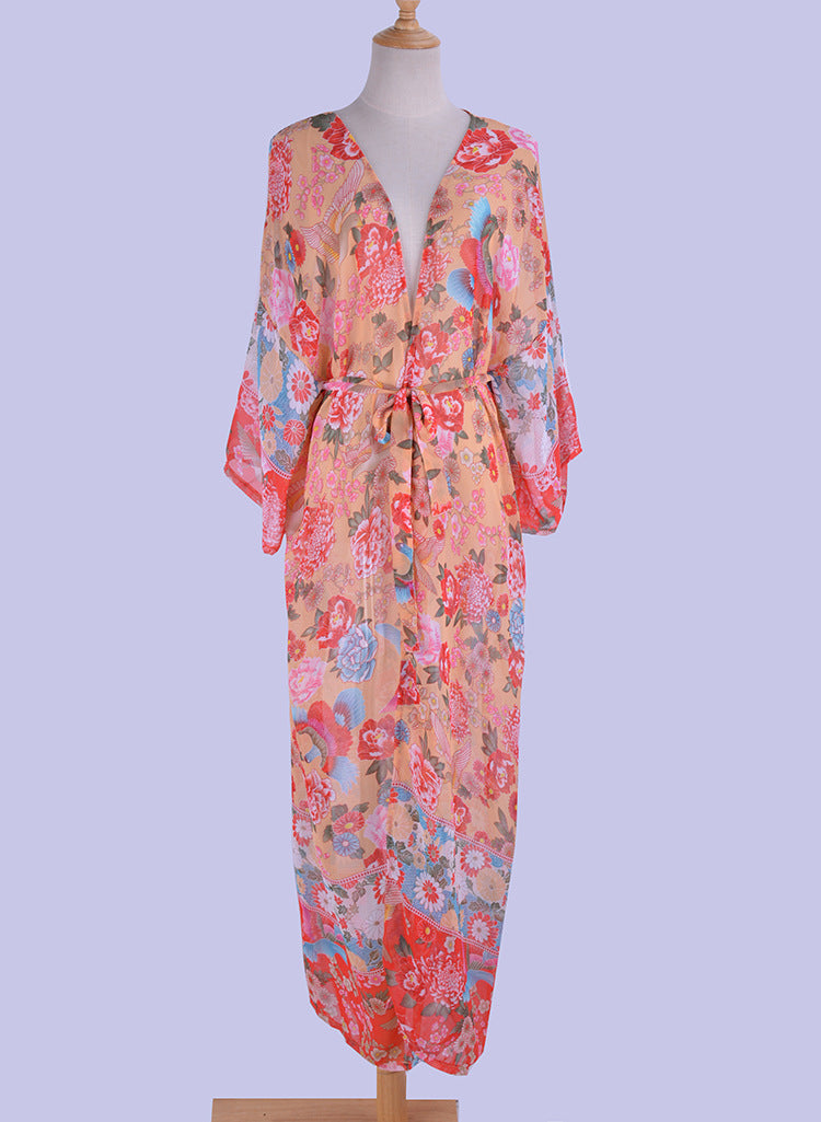 Floral Maxi Cover Up