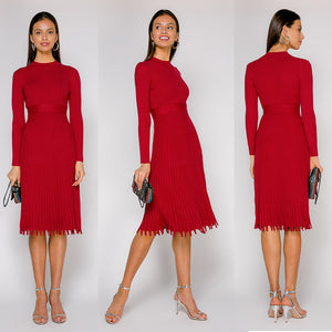 Folded Knit Dress