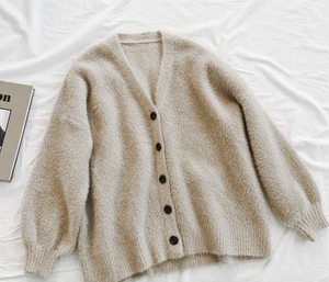 Front Buttons Knit Cardigan