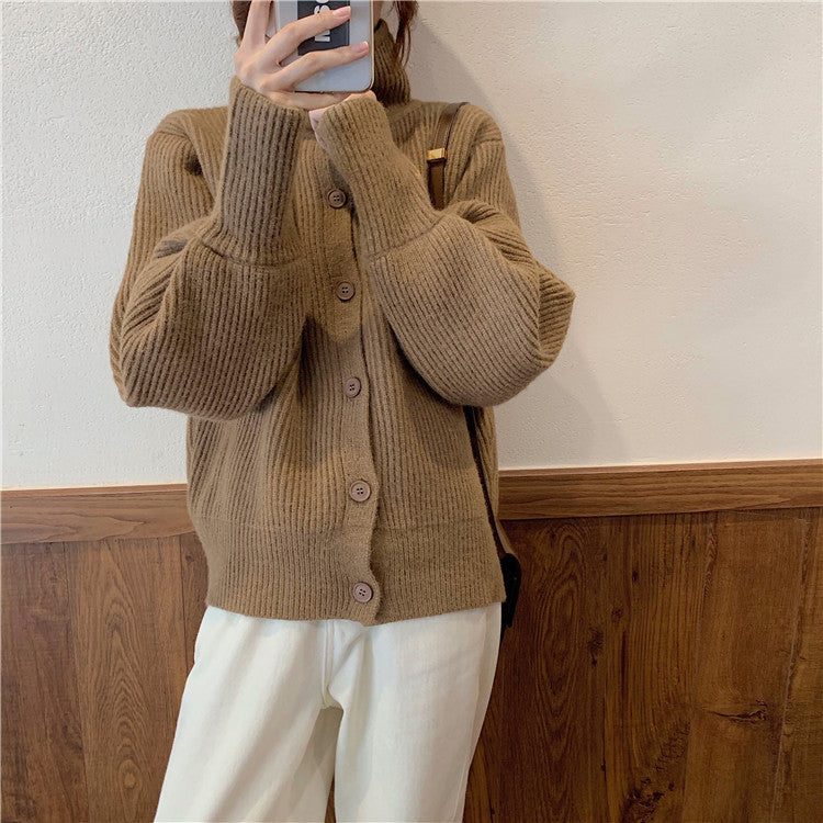 Front Buttons Sweater Cardigan