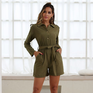 Front Buttons Romper
