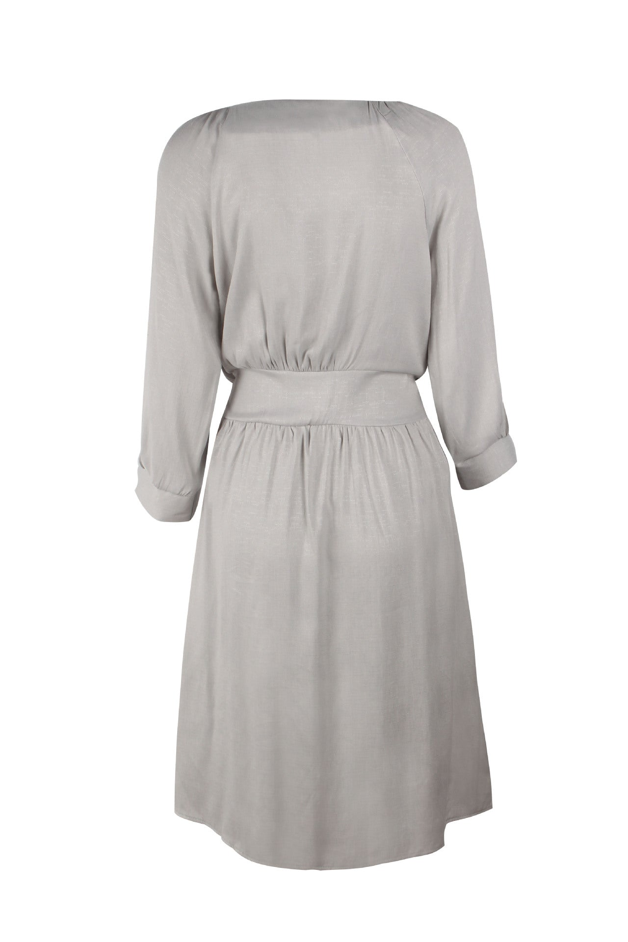 Front Buttons V Neck Dress