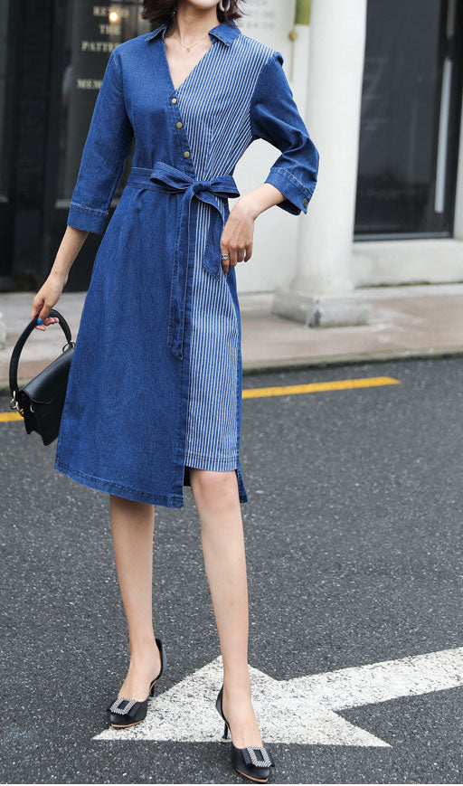 Half Sleeve Denim Dress
