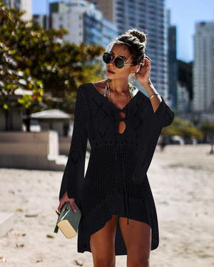 High Low Knit Cover Up