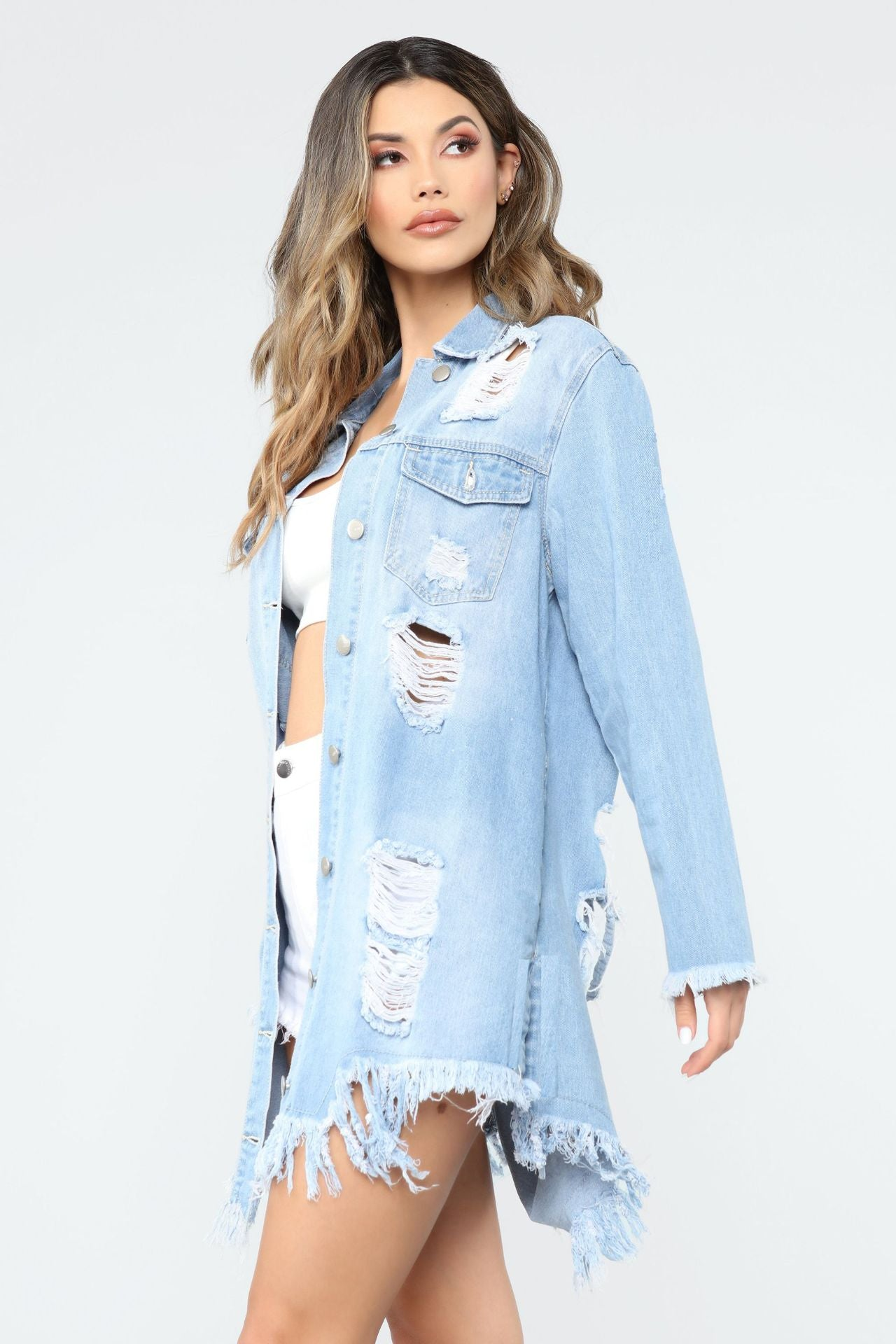 Hole Denim Jacket