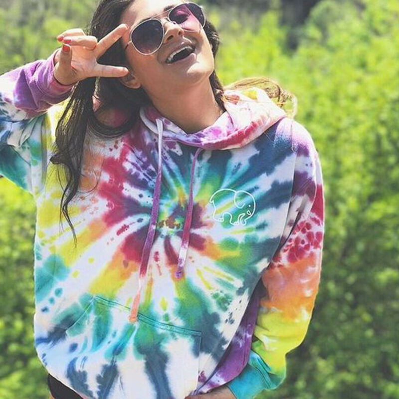 Hooded Tie-dyed Sweatshirt