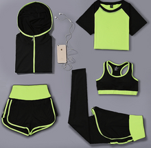 Load image into Gallery viewer, Hooded Design Five Pieces Set Activewear