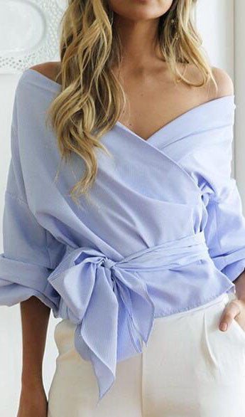Off The Shoulder Cross Top, top, VIVIMARKS