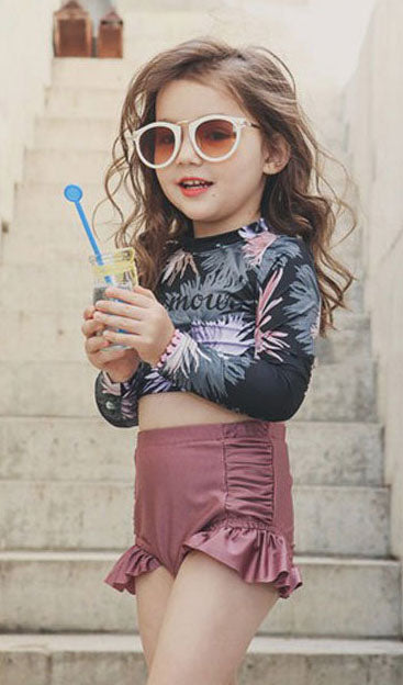 Kids Long Sleeve Swimsuit