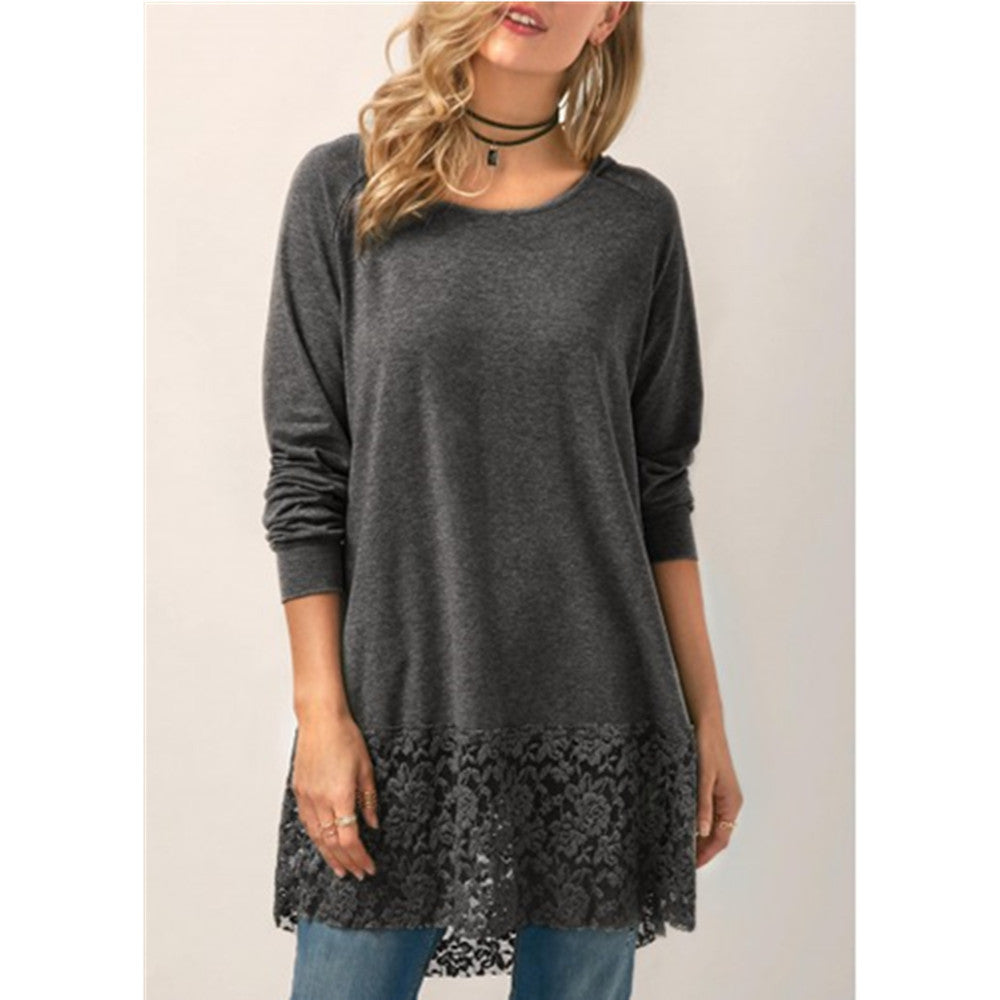Lace Hoodie T Shirt
