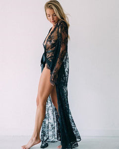 Lace Long Cover Up