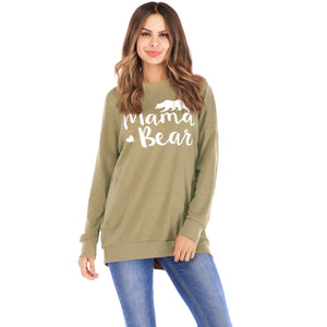 Letter Print Long Sleeve Top