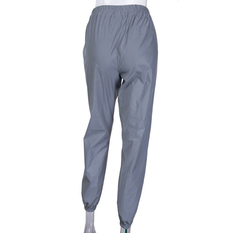 Gray Night Reflect Light Trousers