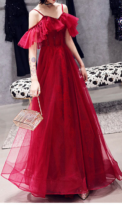 Off The Shoulder Prom Maxi Dress