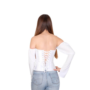 Off The Shoulder Back Lace Up Top