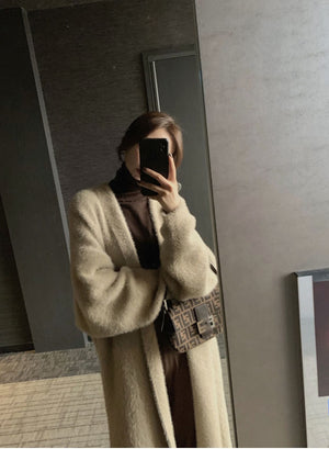 Plush Cardigan Coat