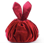 Rabbit Ears Drawstring Cosmetic Bag