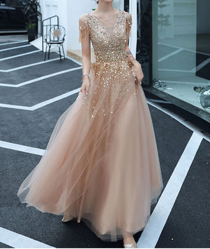 Sequins Off The Shoulder Prom Dress