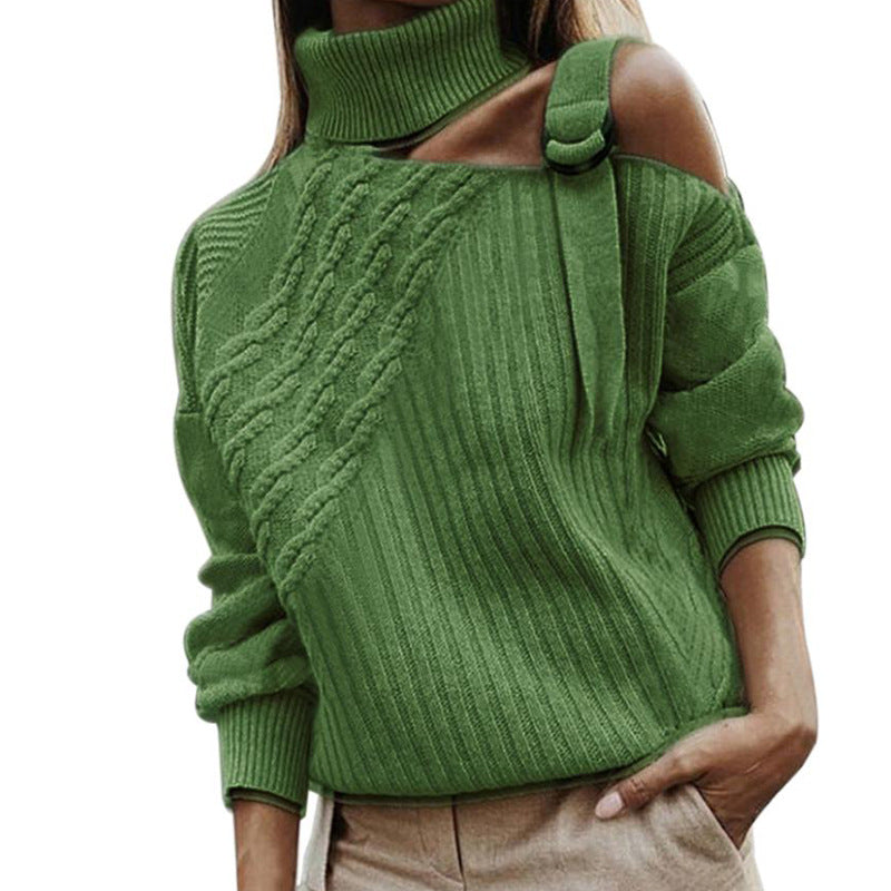 Shoulder Hollow Out Sweater