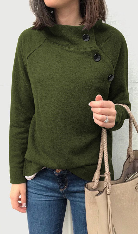 Side Buttons Sweatshirt