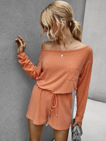 Solid Color Casual Romper