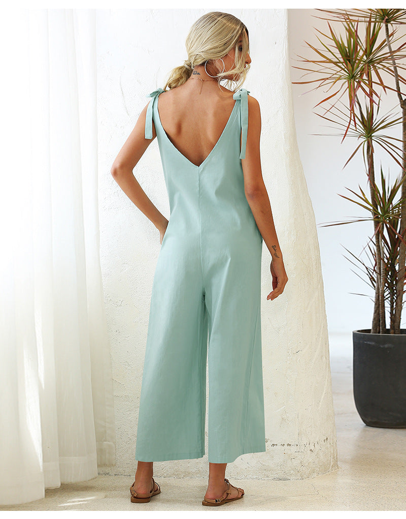 Solid Color Romper