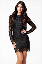 Load image into Gallery viewer, Lace Open Back Bodycon Dress, dress, VIVIMARKS