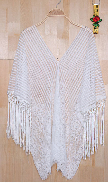 Tassel Lace Cover Up