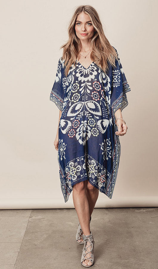 V Neck Chiffon Cover Up
