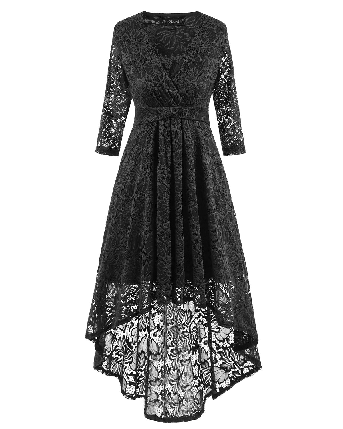 V Neck Lace Dress
