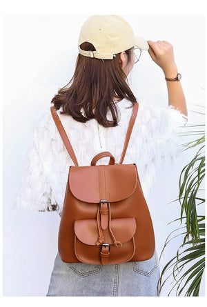Women PU Backpack