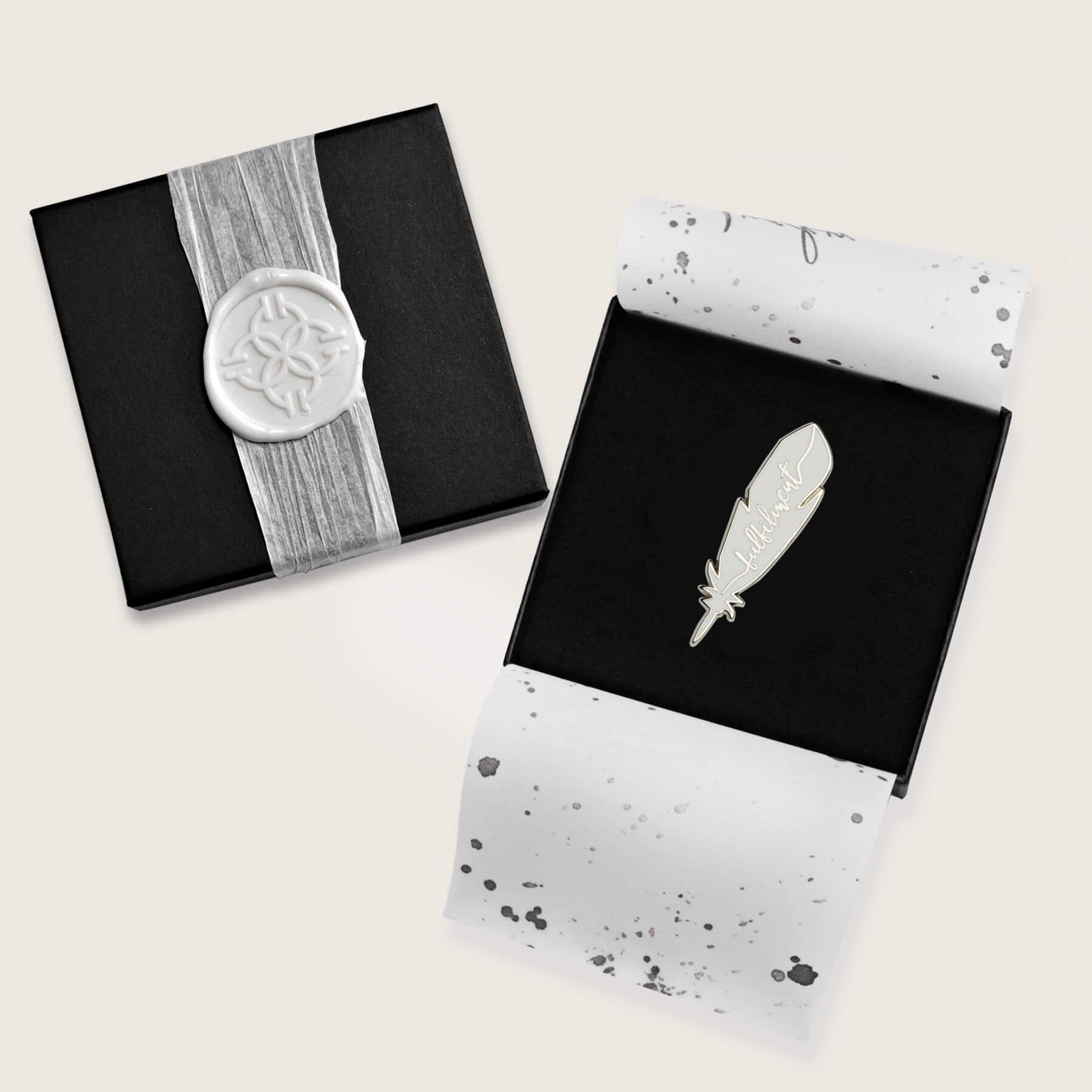 Lucky Feather Pin | Fulfilment | Silver - Nicolette Toddor Hats and Accessories