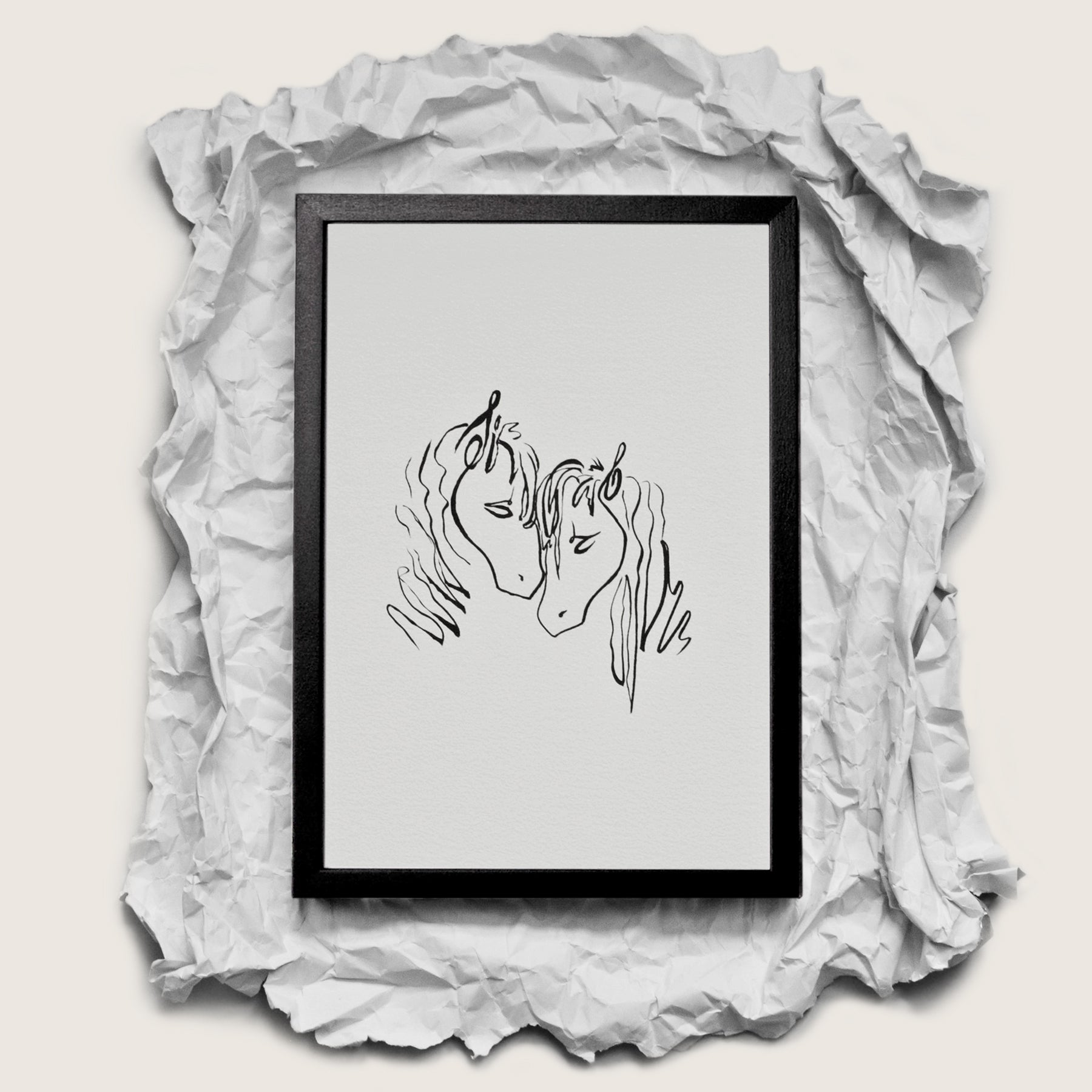 Love - Framed Art Print - Nicolette Toddor Hats and Accessories