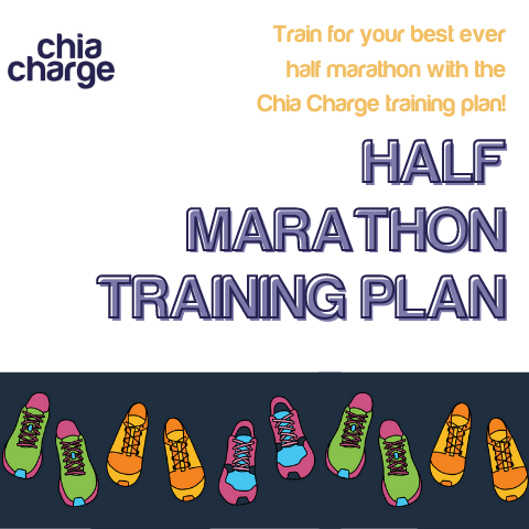 The front cover of the half marathon training plan download