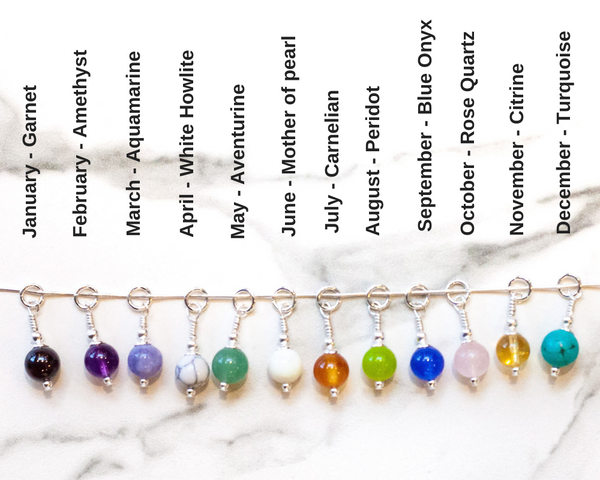 1st Wedding Anniversary Gift - Two Peas In A Pod Necklace - Choose your Birthstone Combination