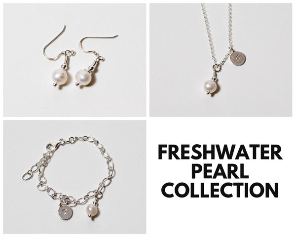 Freshwater Pearl Necklace & Earrings