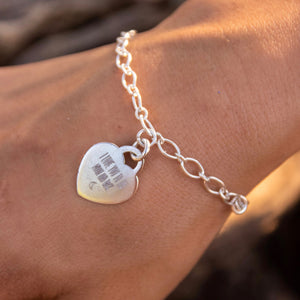Heart Engraved Bracelet
