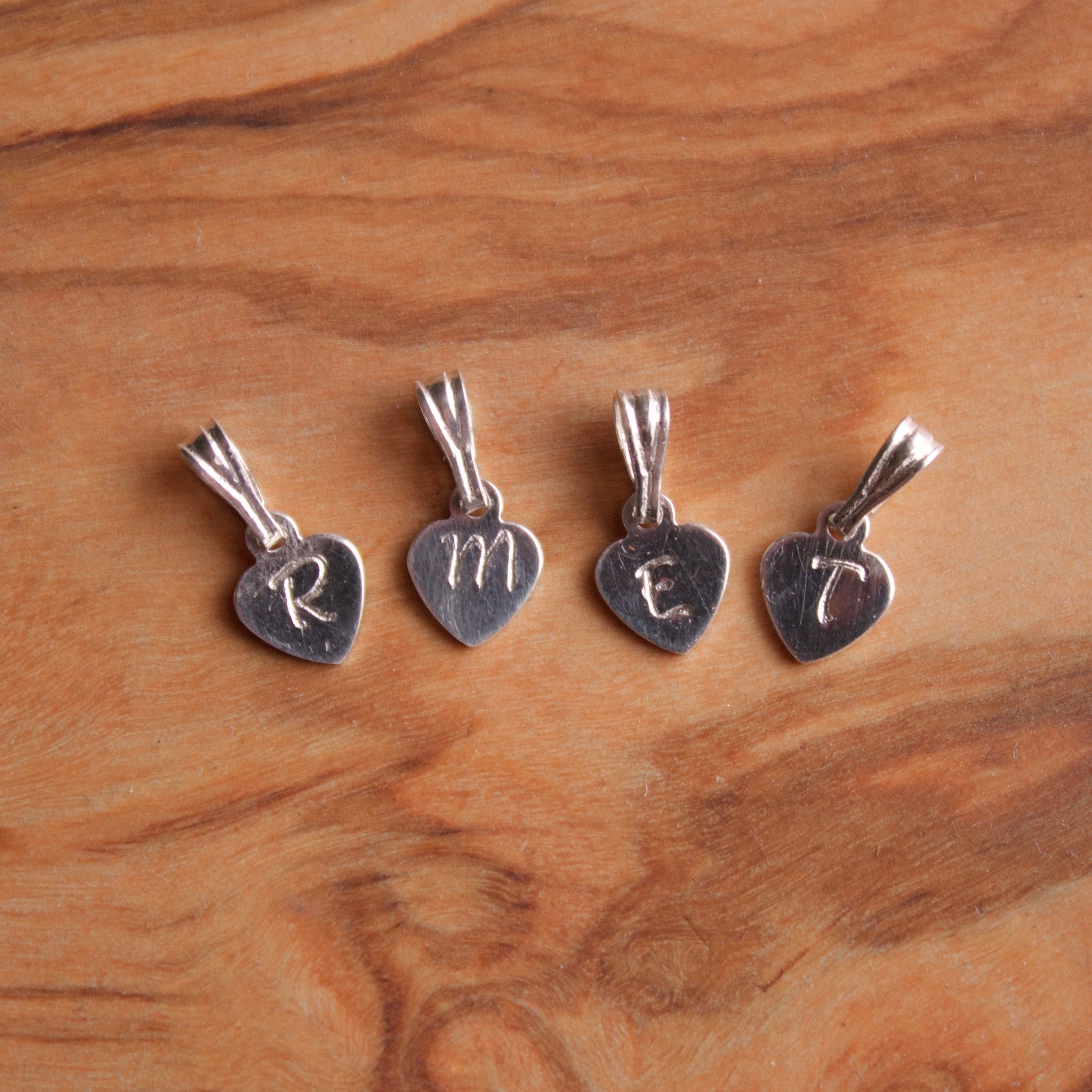 Personalised initial charms