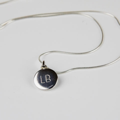 Initial Personalised Revolving Silver Necklace