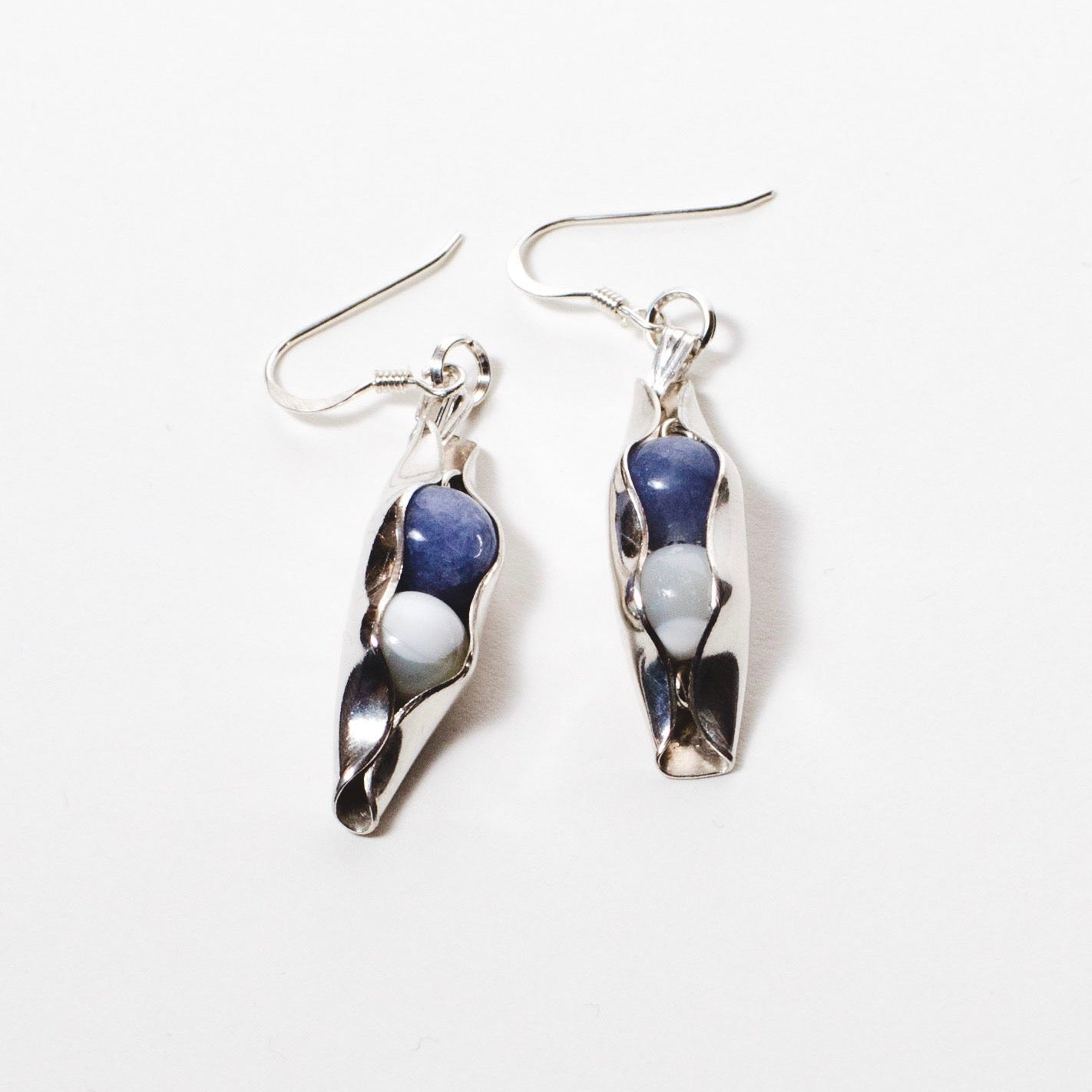Two Peas In A Pod Earrings - Choose your birthstone combination