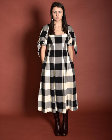 MARA HOFFMAN Kalilah Check Dress