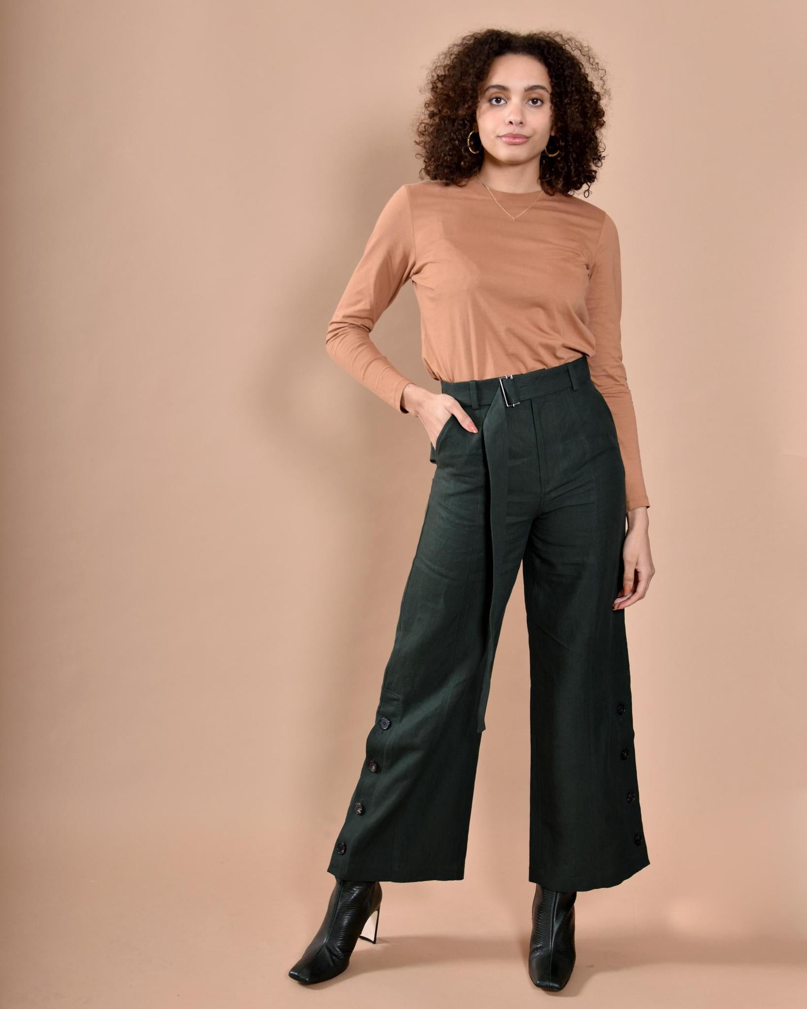 IHNN Made in Japan - Tailored Pants / Green