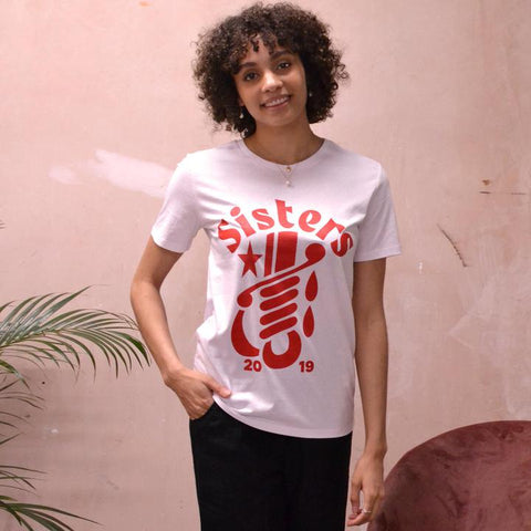 NATALIE B COLEMAN Sisters T-Shirt White