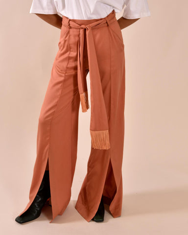 MOTHER OF PEARL Leo Wide Leg Trouser / Terracotta